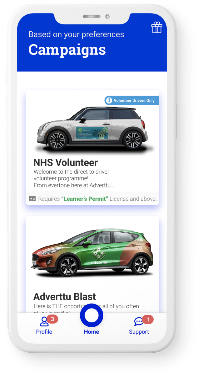 Adverttu Mobile App Screen